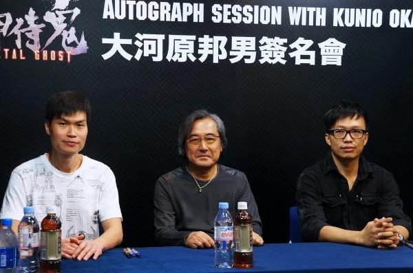 左起:玩具设计-Kelvin、机械设定-大河原邦男、驾驶员设定 -Keeny Wong