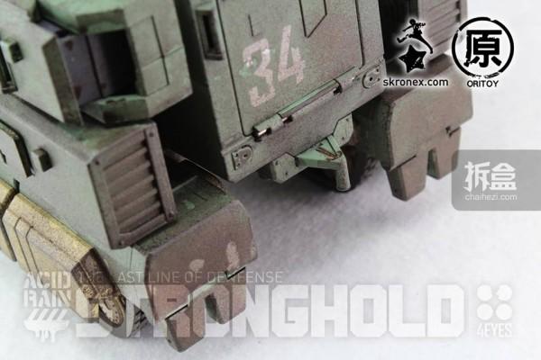 Ori Toy酸雨战争系列:要塞-陆战队版(Stronghold - Marine Version)战车状态,战车可拖挂