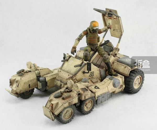 Ori Toy酸雨战争系列:Speeder 88 Mk II和搭载的士兵