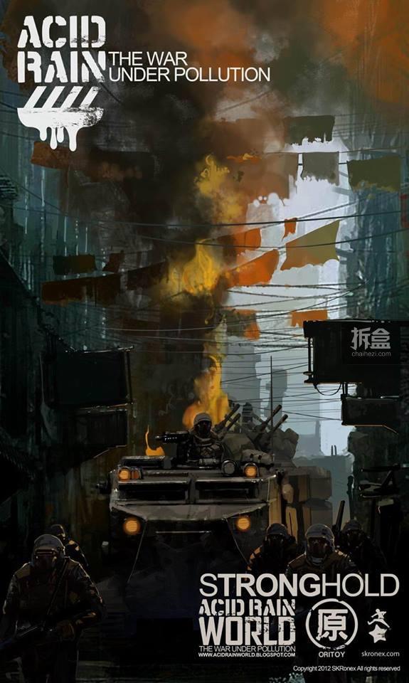 Ori Toy酸雨战争系列的概念设定图