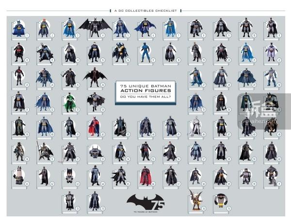 DC Collectibles 【蝙蝠侠75年,75款人偶】列表。