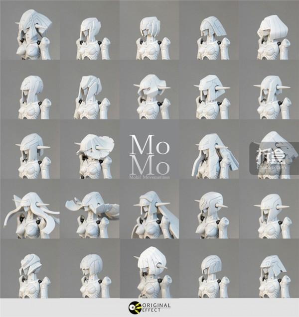 MoMo的头雕,后期可替换DIY发型