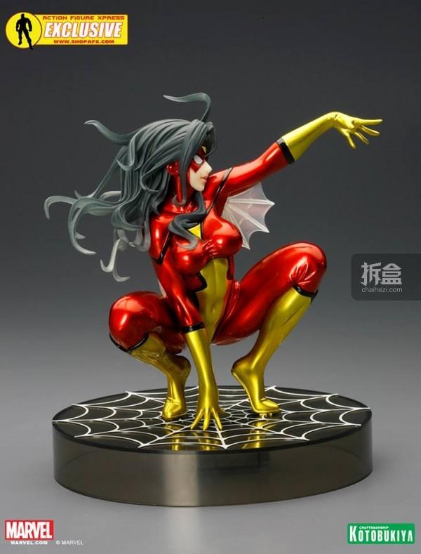 SDCC-Metallic-Spider-Woman-Bishoujo-Statue-002