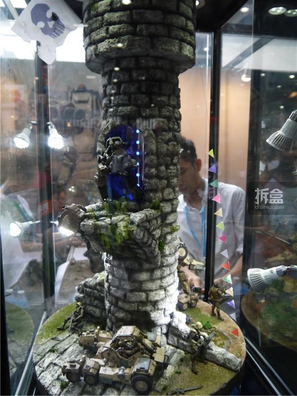 此次展出的塔楼场景