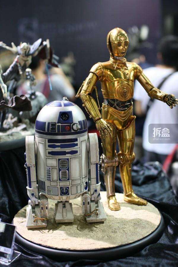1:4 C-3PO和R2-D2 全身像