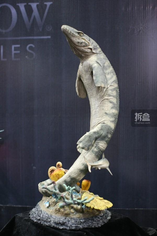沧龙雕像 Mosasaur Statue