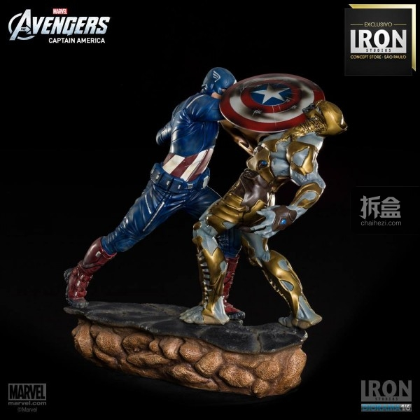 ironstudio-Avengers Captain America Battle-Diorama-005