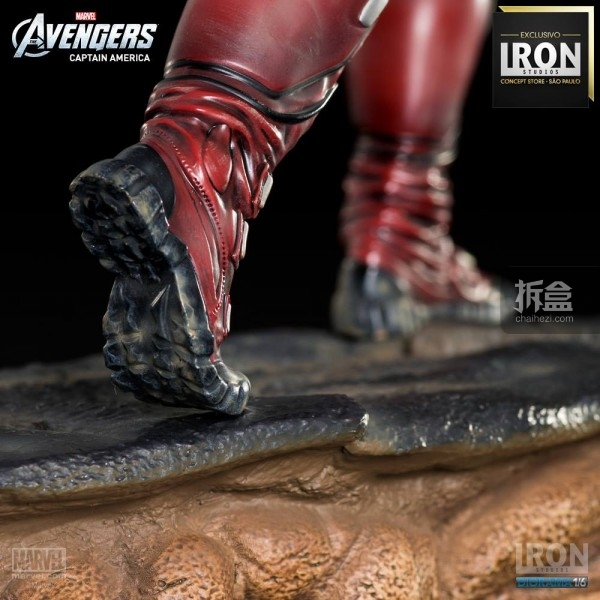 ironstudio-Avengers Captain America Battle-Diorama-006