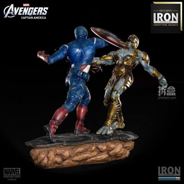 ironstudio-Avengers Captain America Battle-Diorama-007