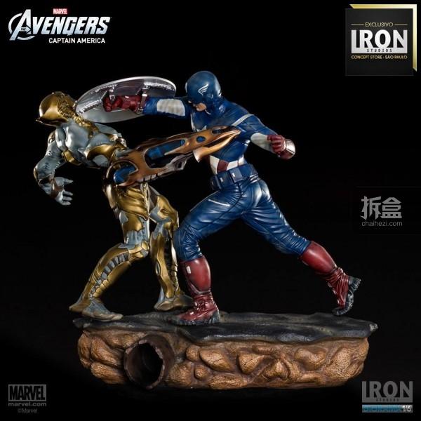 ironstudio-Avengers Captain America Battle-Diorama-008