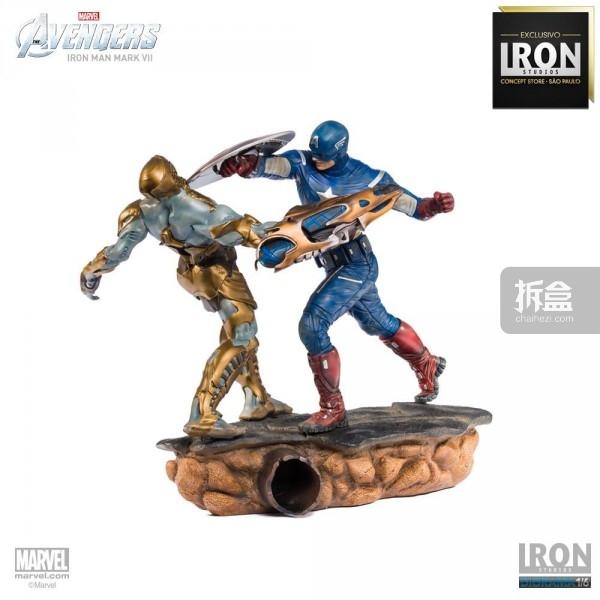 ironstudio-Avengers Captain America Battle-Diorama-009