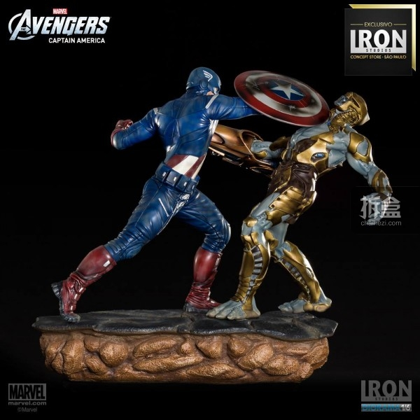 ironstudio-Avengers Captain America Battle-Diorama-016