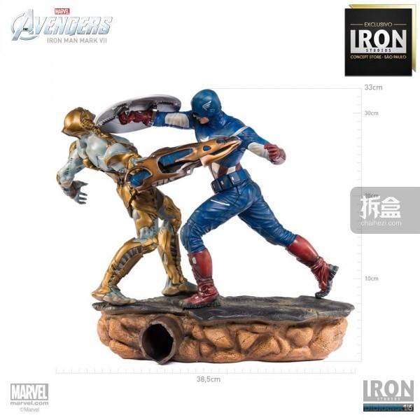 ironstudio-Avengers Captain America Battle-Diorama-017