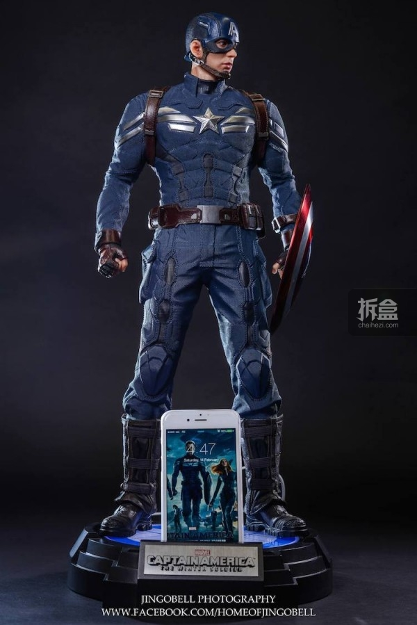 King Arts Captain America Power Charger Statue-Jingobell-006