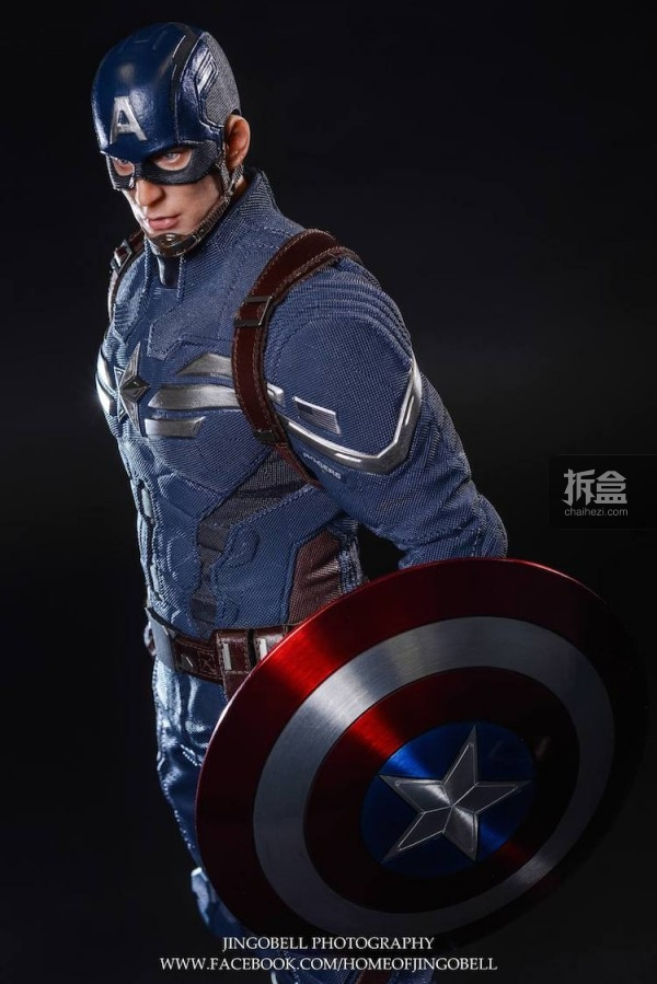 King Arts Captain America Power Charger Statue-Jingobell-008