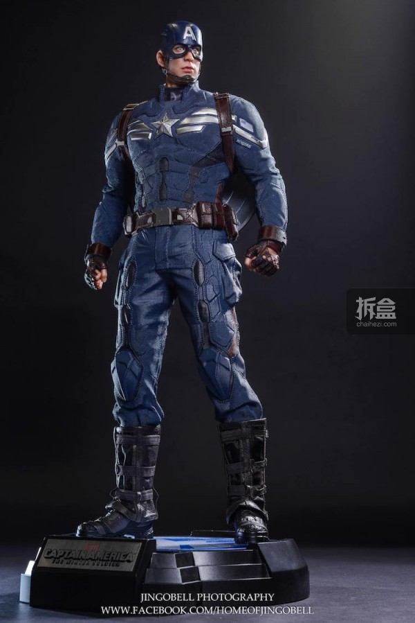 King Arts Captain America Power Charger Statue-Jingobell-010