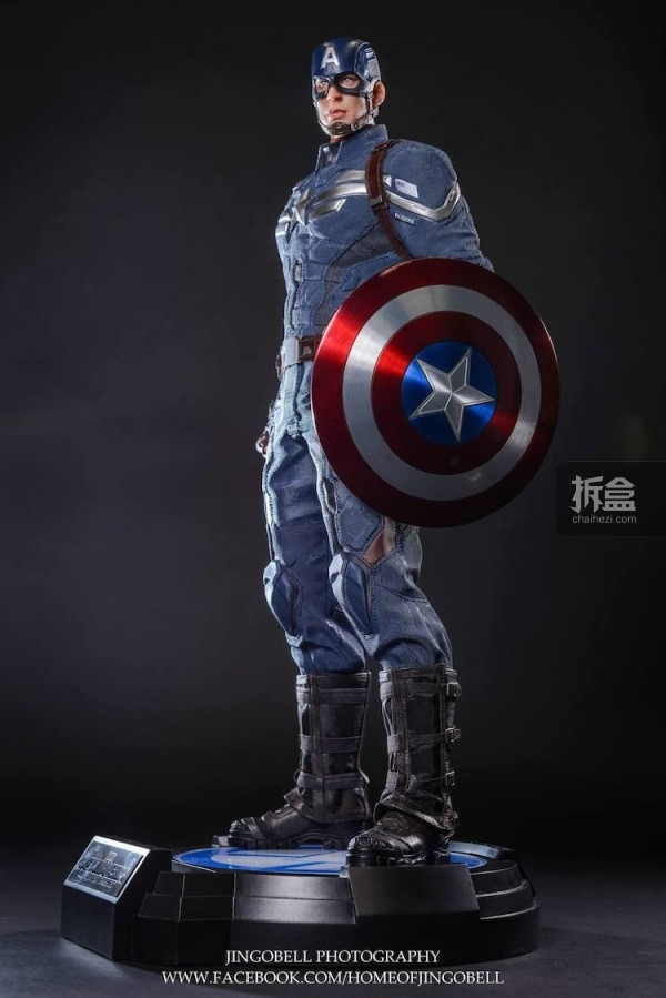 King Arts Captain America Power Charger Statue-Jingobell-013