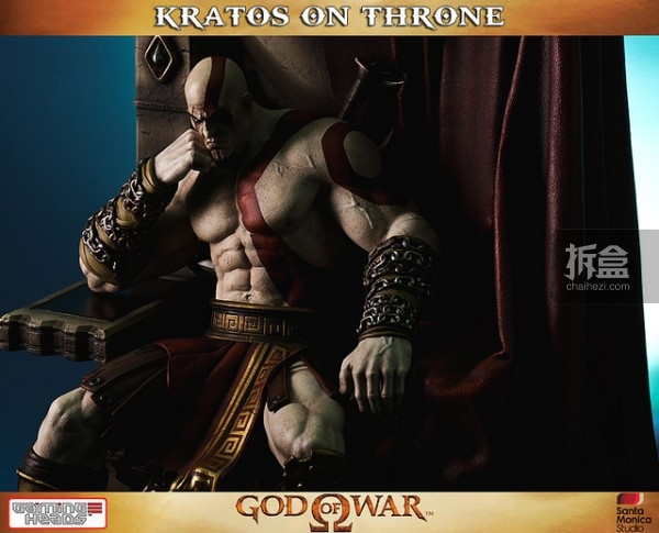gamingheads-Kratos on Throne-statue