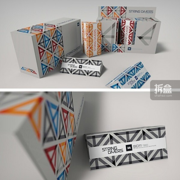 新一波Microman的盒子采用了菱形体的设计