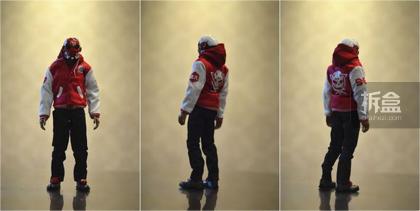 【主体篇】 主体一身运动风的装扮,搭配Machine 56 这个品牌的主打头盔,在现在的原创品牌里还是很少见的。 ▲主体方位图,配色比较鲜亮。