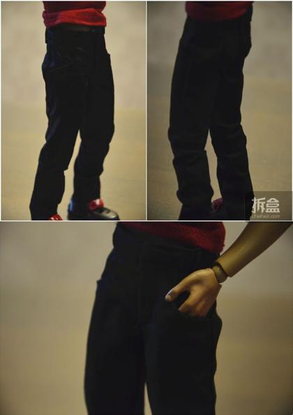 ▲裤子。版型还算不错,口袋也是可以插进去的。