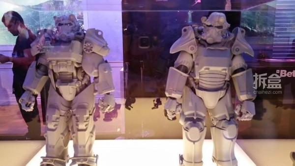 PAX Prime游戏展上,Bethesda展台展出的白模样品