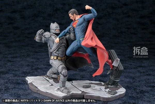 寿屋《蝙蝠侠大战超人》蝙蝠侠、超人ARTFX+系列雕像