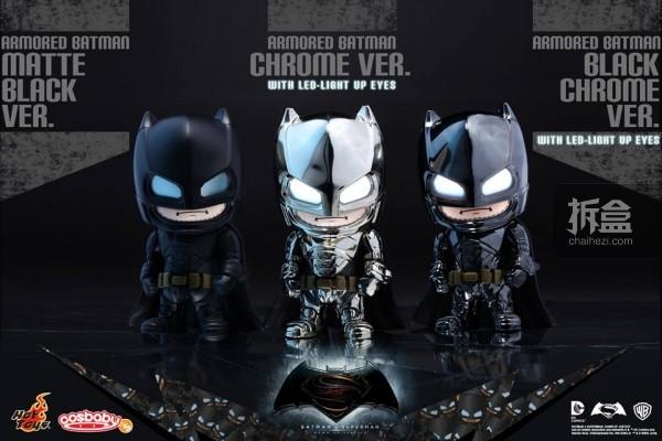 重甲蝙蝠侠Cosbaby Q版公仔3款异色版