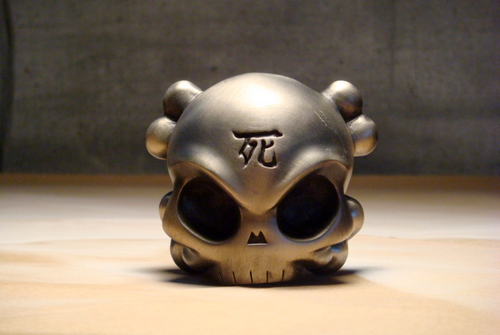"""Skullhead #1"" Black Nickel A/Ps $150,限量25个"