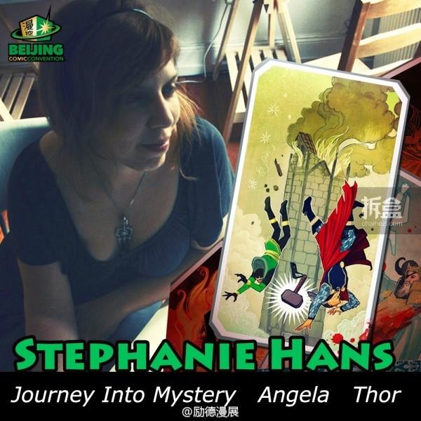 BJCC嘉宾:法国插画师Stephanie Hans将在6月9-10日(端午节*n)出席BJCC担任创作嘉宾!Stephanie目前主要从事漫画封面与内页的绘制,【探寻神秘之旅】封面就是她的作品喔,其他作品还有Thor, Black Widow, Superior Spiderman: Inhumanity, Antman等。