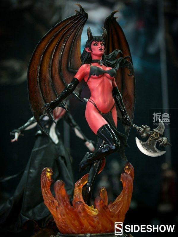 Sideshow Chaos! Comics女吸血鬼-PURGATORI雕像