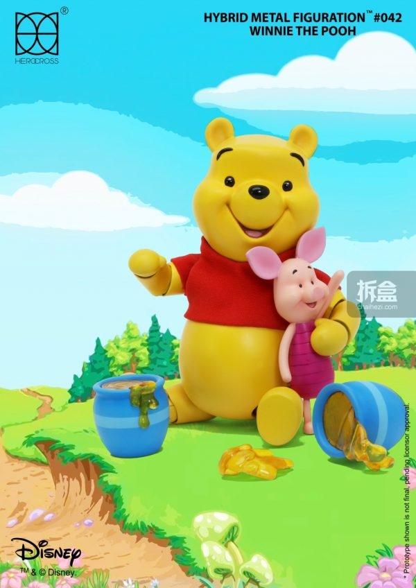 herocross 合金q版 小熊维尼 winnie the pooh