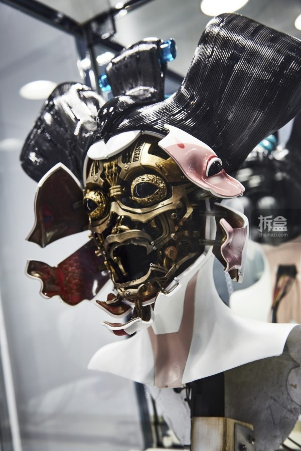 Mannequin of the cyborg in the gallery space. The Ghost in the Shell Fan Event at Tabloid in Tokyo, Japan November 13, 2016