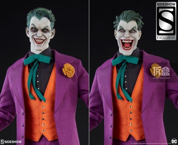 Sideshow DC漫画 反派 - The Joker 小丑 1:6可动人偶   拆盒网