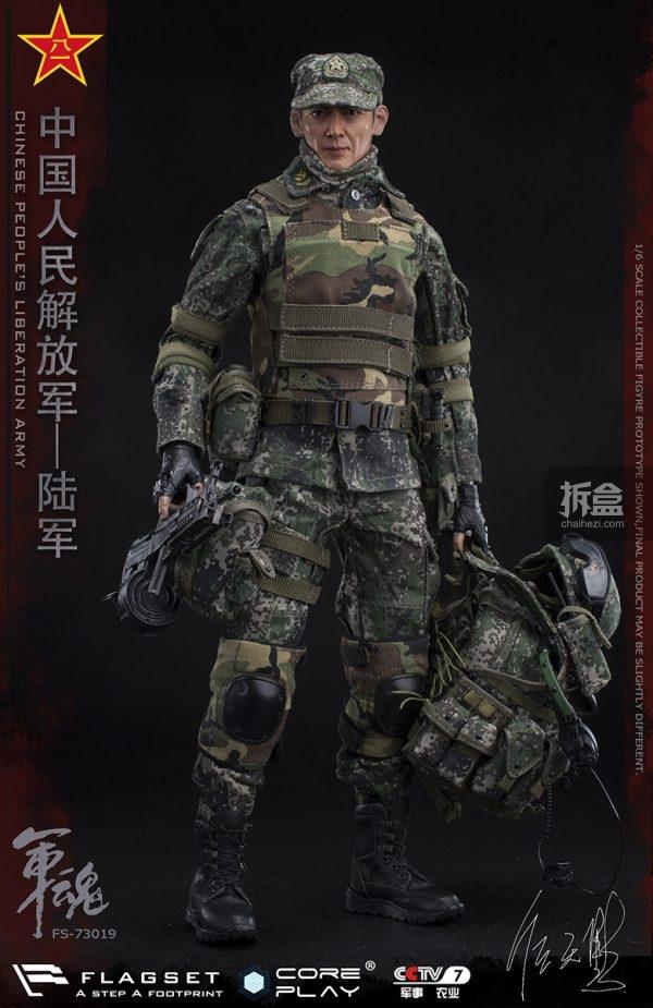 兵人模型吧_COREPLAY x FLAGSET 中国人民解放军 军魂系列 陆军机枪手1:6兵人模型 ...